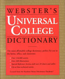 Webster S Universal College Dictionary