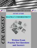 CDL Practice Test Study Guide  Hazmat Endorsement
