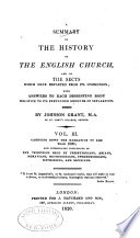 A Summary of the History of the English Church and of the Sects which Have Departed from Its Communion  Carrying down the narrative to the year 1800