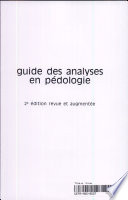 Guide des analyses en p  dologie