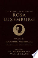 The Complete Works of Rosa Luxemburg  Volume II