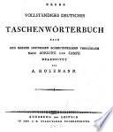Neues vollständiges deutsches Taschenwörterbuch