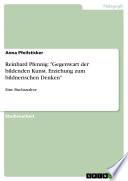 """Reinhard Pfennig: """"Gegenwart der bildenden Kunst. Erziehung zum bildnerischen Denken"""""""