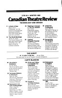 Canadian Theatre Review book