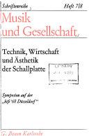 Schriftenreihe  Musik und Gesellschaft