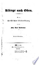 Klänge nach Oben. Ein christlicher Liederkranz von Max Karl Baldamus