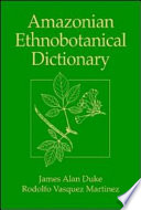 Amazonian Ethnobotanical Dictionary Book Designed And Conceived In The