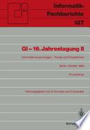 GI     16  Jahrestagung II