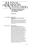 Journal of business venturing