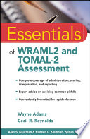 Essentials of WRAML2 and TOMAL 2 Assessment