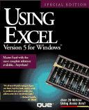 Using Excel Version 5 for Windows