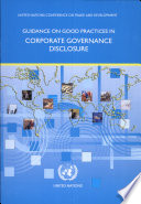 Guidance On Good Practices In Corporate Governance Disclosure