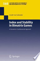 Index And Stability In Bimatrix Games book