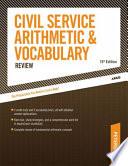Civil Service Arithmetic   Vocabulary Review