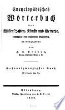 Encyclopädisches Wörterbuch der Wissenschaften, Künste und Gewerbe