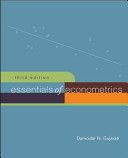 Essentials of Econometrics   Data CD