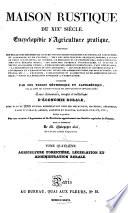 Maison rustique du XIXe si  cle  Arts agricoles  1836  Agriculture foresti  re  l  gislation et administration rurale  1836