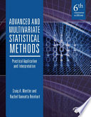 Advanced and Multivariate Statistical Methods