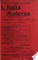 L Italia moderna rivista dei problemi della vita italiana