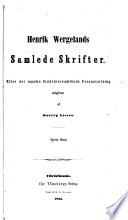 Henrik Wergelands samlede skrifter: bd. Farcer af Siful Sifadda