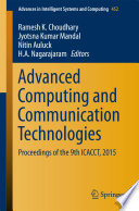 Advanced Computing And Communication Technologies