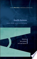 Health Systems  Health  Wealth and Societal Well being