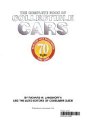 Complete Book Of Collectible Cars