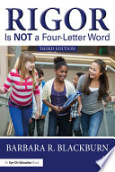 Rigor Is Not A Four Letter Word book