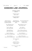 Second annual Vinson   Elkins LLP Howard law journal symposium