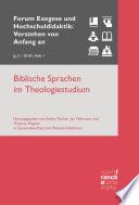 Biblische Sprachen im Theologiestudium