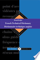 Routledge Dictionnaire Technique Anglais