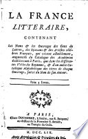 Ebook La France littéraire, Epub Joseph de Laporte Apps Read Mobile