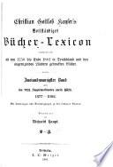 Vollständiges bücher-lexicon ...