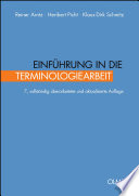 Einführung in die Terminologiearbeit