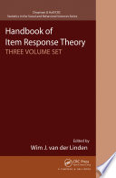 Handbook of Item Response Theory  Three Volume Set
