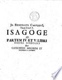 Jo. Benedicti Carpzovii ... Isagoge in libros ecclesiarum lutheranarum symbolicos... opus posthumum a Johanne Oleario,... continuatum... editum a Jo. Benedicto Carpzov, fil