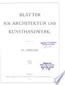 Bl Tter F R Architektur Und Kunsthandwerk