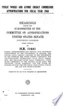 Public Works And Atomic Energy Commission Appropriations For Fiscal Year 1968