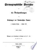 Verhandlungen des Reichstages des Norddeutschen Bundes