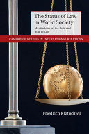The Status of Law in World Society