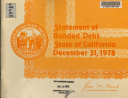 Statement of Bonded Debt of the State of California Book PDF