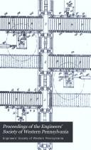 Book Proceedings of the Engineers' Society of Western Pennsylvania