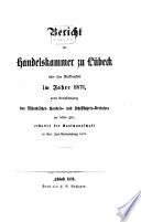 Bericht der Handelskammer zu Lübeck