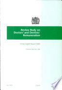 Review Body On Doctors And Dentists Remuneration Thirty Eighth Report 2009