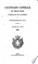 Calendario generale pe  Regii Stati pubblicato con autorit   del Governo e con privilegio di S S R M