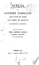 Scelta di lettere familiari degli autori piu celebri