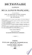 Dictionnaire classique de la language Française
