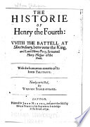 The Historie Of Henry the Fourth