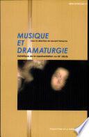 Musique et dramaturgie