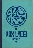 download ebook vox lycei 1940-1941 pdf epub